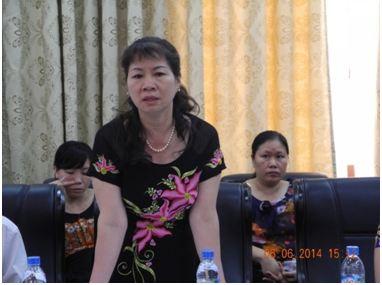 Madame Vu Thi Lien, Vice-Chair of Lai Chau Farmers' Union addresses the Meeting in Lai Chau (Photo: ADDA)