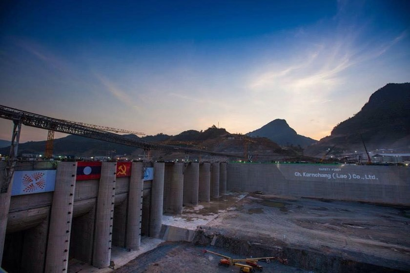 This undated file photo shows construction of the US$3.5 billion Xayaburi dam project underway in northern Laos.Opponents of the Xayaburi and Don Sahong projects say their commencement would usher in the construction of the 9 other dams planned by Laos on the Mekong. (Photo: thanhniennews.com)