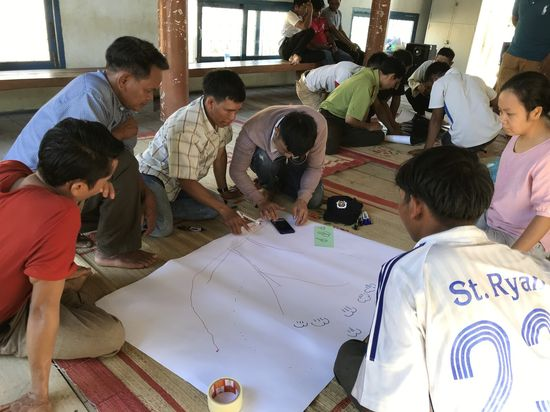 The meeting of Hang Nam Village community for sustainable forest plan